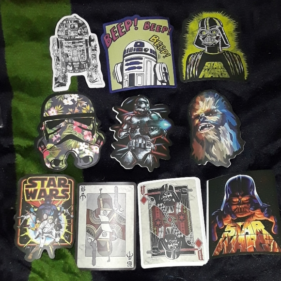 10 Star Wars stickers ☆New☆
